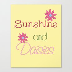 Sunshine and Daisies Canvas Print