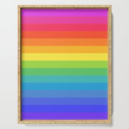 Solid Rainbow Serving Tray