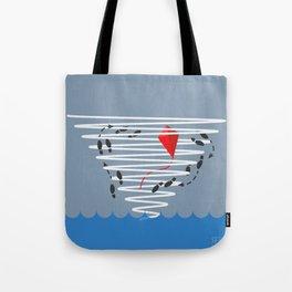 Kite Dancing in a Hurricane  Tote Bag