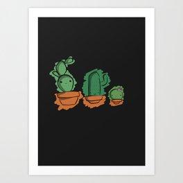Cute Cactai Family Art Print