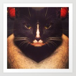 King Cat Art Print