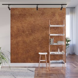 Brown vintage faux leather background Wall Mural