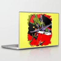 kaiju Laptop & iPad Skins featuring Kaiju Attack by sasha alexandre keen