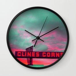 Clines Corners Wall Clock