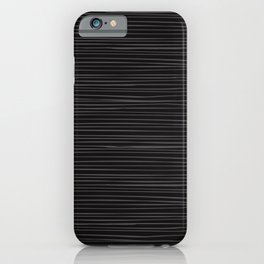 Classic Black With Gray Lines iPhone Case