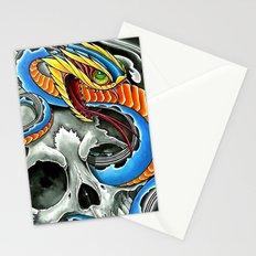 blue viper skull Stationery Cards