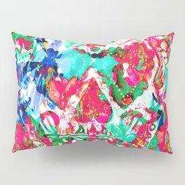 Floral Skull Pillow Sham