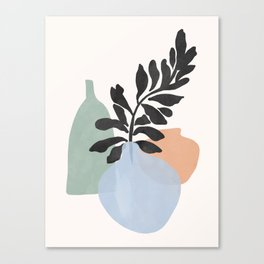 Sea glass vases Canvas Print
