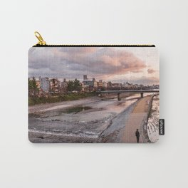 Evening walk along the Kamo River in Kyoto Carry-All Pouch