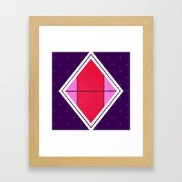 August - purple diamond Framed Art Print