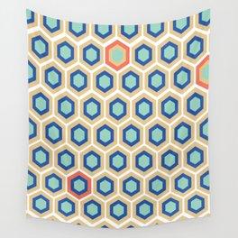 Digital Honeycomb Wall Tapestry