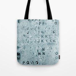 Blue Granite Alphabet Tote Bag