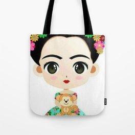Frida Cartoon Tote Bag