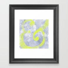 Grungy Ampersand Framed Art Print