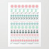 sewing Art Prints featuring Sewing by Heleen van Buul