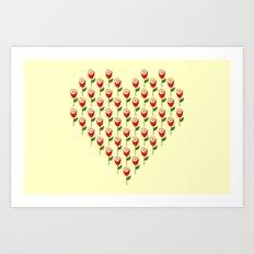 Heart in Bloom Art Print