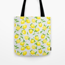 You're the Zest - Lemons on White Tote Bag