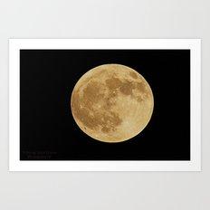 Our Raising Moon Art Print