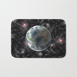 Planet Earth-Space Bath Mat