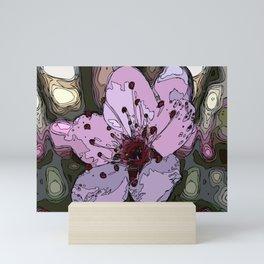 apricot blossoms of red cherry Mini Art Print