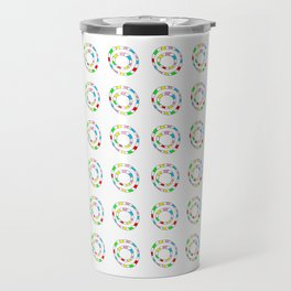 Circle and abstraction 11- blue abstract,geometric,geometrical,circle,sphere Travel Mug