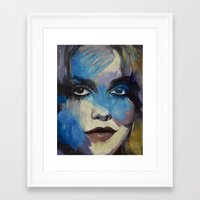goth Framed Art Prints featuring Goth Girl by Michael Creese