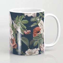 White lily flower and field poppy Coffee Mug