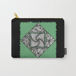Paradox Tile on Green Carry-All Pouch