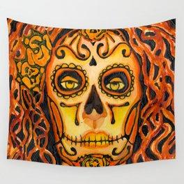 Autumnal Dia de los Muertos Wall Tapestry