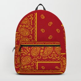 Red and Gold Bandana Backpack