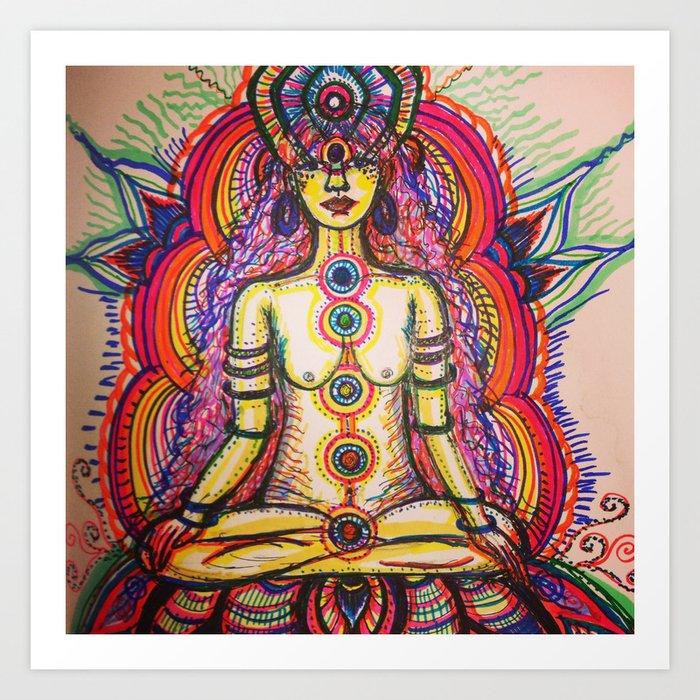 Chakra Glow Art Print