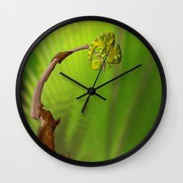 Leaf Chameleon Wall Clock