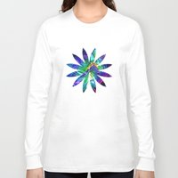 flower pattern Long Sleeve T-shirts featuring Flower pattern by Avril Harris