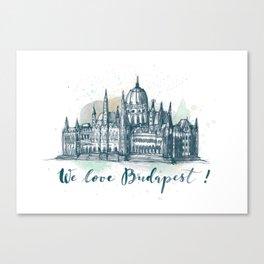 Budapest No. 3. Canvas Print