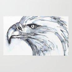 Eagle Portrait (Watercolor Sketch) Rug