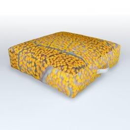 Orange Leaf Veins Outdoor Floor Cushion