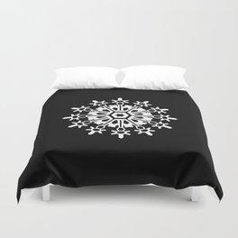 Snowflake Medallion B&W Duvet Cover
