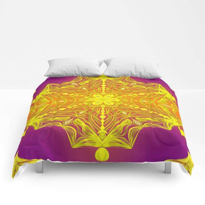 Snowflake Sunset Comforters