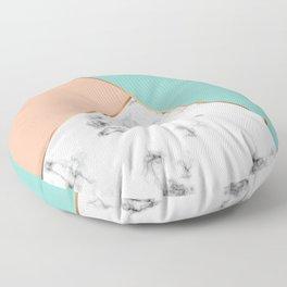 Marble Geometry 056 Floor Pillow