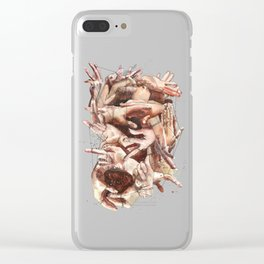 We are all connected by one thread Clear iPhone Case