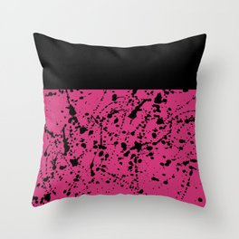 Splat Black On Yarrow Boarder Throw Pillow