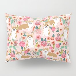 Corgi Florals - vintage corgi and florals gift gifts for dog lovers, corgi clothing, corgi decor, Pillow Sham