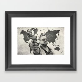 A world of pain b Framed Art Print