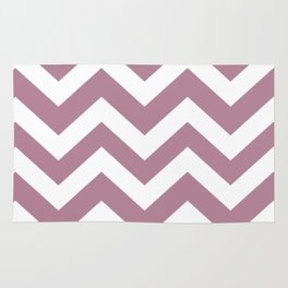 English lavender - violet color - Zigzag Chevron Pattern Rug