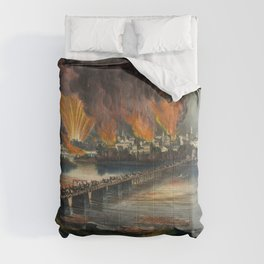 The fall of Richmond, Virginia on the night of April 2nd 1865 Comforters