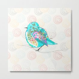 Quirk the Blue Bird Metal Print