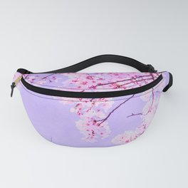 Cherry pink blossoms watercolor painting #9 Fanny Pack