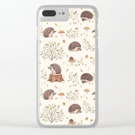 Little Hedgehog Clear iPhone Case