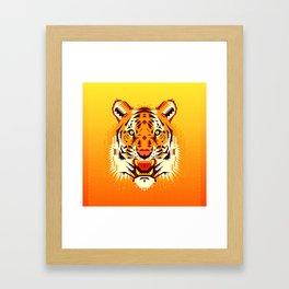 Geometric Tiger Framed Art Print