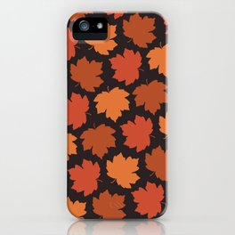 Falling maple leaves pattern iPhone Case